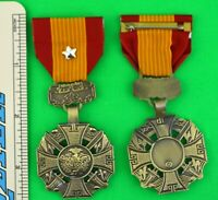 Republic of Vietnam Gallantry Cross Medal with Star Silver - full size -USA Made