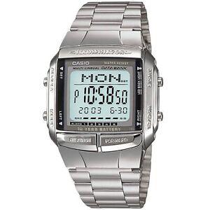 Casio Uhr DB-360-1ADF Digital Armbanduhr Herren Edelstahl Silber Watch NEU & OVP