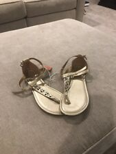 Women's Size 8.5 M MOSSIMO Gold Studded Ankle Strap Fashion Sandals