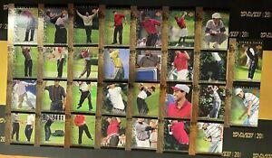 2001 UPPER DECK TIGER'S TALES TIGER WOODS COMPLETE INSERT SET (30 CARDS)