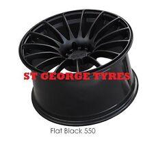 "4X 18"" GENUINE XXR 550 FLAT BLACK WHEELS XXR550 RIMS CONCAVE 5X100 5X114.3 ET19"