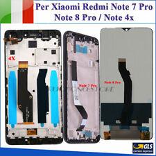 DISPLAY LCD TOUCH PER XIAOMI REDMI Note 4X / Note 7 Pro/Note 8 Pro SCHERMO VETRO