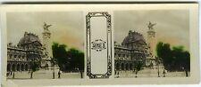 PHOTO stéréo Paris Carrousel Monument Gambetta série N°3