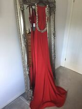 Stunning Pia Michi red embellished prom dress size 6 new with tags