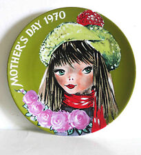 "1970 Mother's Day Plate 7 Seas Traders Minneapolis MN German Made 7.5""  FREE SH"