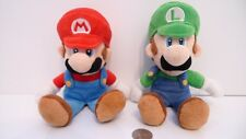 "Set of 2 - Luigi & Mario Sanei Super Mario Plush 8"" Figure Doll Set !!!"