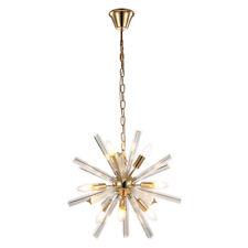 MumoLight Crystal Series Golden Iron Art Long Crystal Universe Chandelier