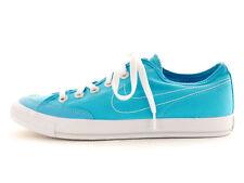 Nike Sneaker Turnschuhe Sommerschuh Low blau flach Textil Schnürer