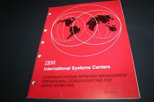 IBM Raleigh 1983 International Systems Center Network Management