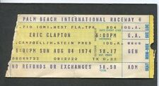 1974 Eric Clapton Concert Ticket Stub Palm Beach 461 Ocean Boulevard Tour