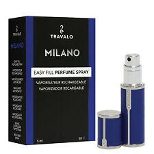 Travalo Milano – Blue blue – Refill Perfume Atomizer – luxurious leatherette