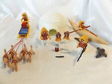 Playmobil 7 Eskimos in Village w/ Igloo from 3465 & 3466 Dog Sled, Kayak, Seals