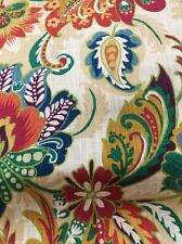 Richloom Drapery Fabric /cotton Duck/linen Look/leaf/vine/tropical/floral Bty