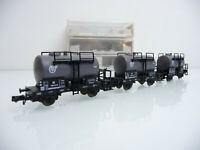Fleischmann N 1:160 8407 3-teiliger Kesselwagen Zug VTG 2-achsig grau mit OVP