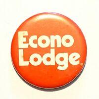 "Econo Lodge * Vintage Pinback Pin Button 2.25"" * Combine Shipping!"