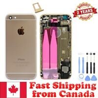 Gold Back Housing Mid Frame Assembly with Parts for iPhone 6 A1549 A1586 A1589