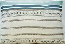 Designers Guild Cushion Cover Stripes Woven Silk Fabric Duckegg Blue Rectangle