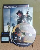 Medal of Honor: Frontline (Sony PlayStation 2, 2002) COMPLETE + 8 MB CARD