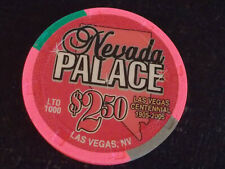 NEVADA PALACE CASINO $2.50 hotel gaming poker chip (LTD 1000) ~ Las Vegas, NV