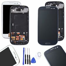 For Samsung Galaxy S3 i9300 LCD Display Digitizer Touch Screen + Frame Assembly