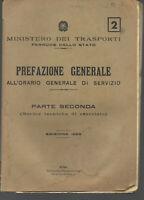 1953 FERROVIE PREFAZIONE GENERALE ALL'ORARIO GENERALE DI SERVIZIO NORME TECNICHE