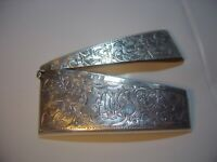 VICTORIAN STUNNING CRAFTSMANSHIP SOLID SILVER BUISNESS CARD HOLDER-RARE-1904