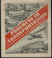 Progress in Transportation by Miles Laboratories Illustrated Old and New Medical