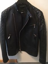 DSQUARED Giacca di pelle leather jacket guibbino tg. 50 NUOVO