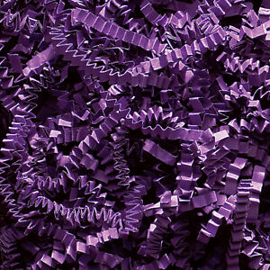 Crinkle Cut Paper Shred - Purple -  You Choose 4oz or 7oz   NEW  _171-15