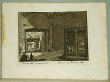1818.Inc/Rame.ROMA:INTERNO TERME DI TITO-THERMES DE TITUS.par NIBBY-Parboni-Ruga