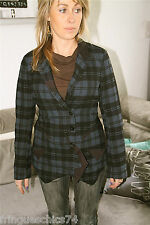 jolie veste à carreaux laine bleue M& FRANCOIS GIRBAUD T S NEUF ETIQUETTE V 300€