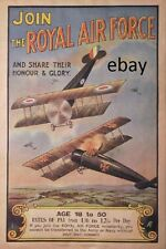 WW1 RECRUITING POSTER ROYAL AIR FORCE RAF NEW A4 PRINT ROYAL FLYING CORPS