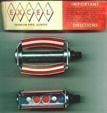 """717A Excel """" bow type """" Bicycle Pedals  N O S"""