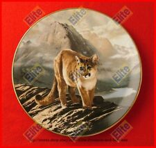 """The World's Most Magnificent Cats """"The Cougar"""" Plate - MIB+COA by Frace"""