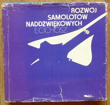POLISH OLD BOOK AVIATION SUPERSONIC AIRCRAFT PLANE AIR TRANSPORT AIRPLANE FLIGHT