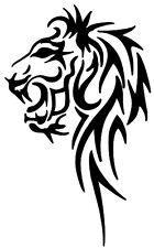 (Nr111) TRIBAL TATTOO LION HEAD DECAL VINYL STICKER FOR  WALL WINDOW CAR LAPTOP