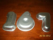 WILTON ONE ,SIX AND SEVEN   CAKE PANS,TIN,MOLD