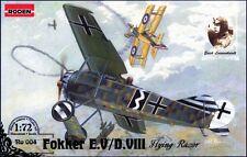 FOKKER EX/D. VIII (KAISERLICHE Luftwaffe, Olandese & Smalto AF MKGS) 1/72 Roden