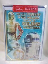2016 Hallmark Star Wars Christmas Cards Box of 16 C-3PO R2-D2 BB-8 B29