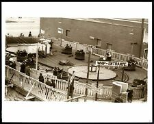 c.1930s SAN FRANCISCO PLAYLAND AMUSEMENT PARK~THE WHIP RIDE in ACTION~8x10 PHOTO