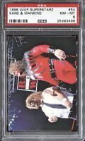 Kane & Mankind 1998 Comic Images DuoCards WWF Superstarz # 54 PSA 8 NM MT