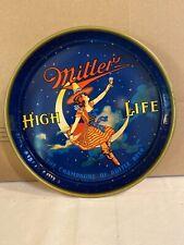 vintage Miller High Life 13� Metal Tray Girl On The Moon