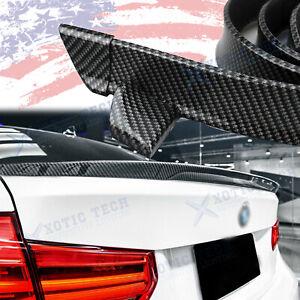 Carbon Fiber Rear Trunk Tail Lip Spoiler Wing Trim For BMW 1 2 3 4 5 6 7 Series