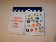 Board maker alphabet/picture flip book visual learning aid
