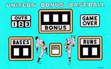 Uniteds Bonus Baseball Backglass. Shipping is available