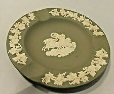 Vintage Green Jasperware Wedgwood Ashtray Made In England