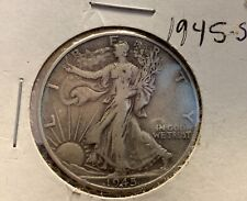 1945-S Walking Liberty Half Dollar. Nice coin with great details.