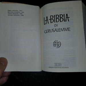 """ART.R1001212GS""""LA SACRA BIBBIA DI GERUSALEMME"""" QUARTA EDIZIONE 1989 - OTTIMO STA"""