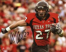 Wes Welker  Texas Tech Red Raiders Signed 8x10 Photo Fanatics 136488