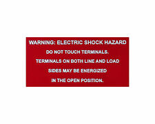 "Solar label plastic placard 4x2"" engraved Warning Photovoltaic Electric Shock"